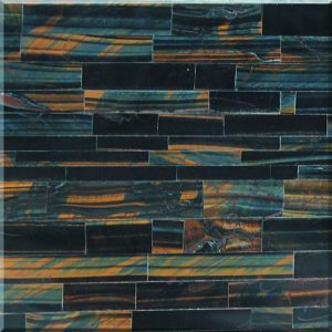 Blue Tiger Eye semi-precious stone tiles,