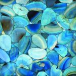 Light Blue Agate Semi-precious Stone Tile
